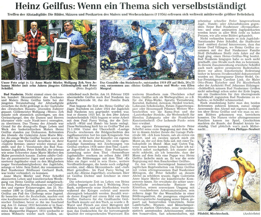 Referenten Anne Marie Mörler und Peter Schöffel, WZ 19.07.2012, Fotos: Archiv und Eberhard Bogdoll