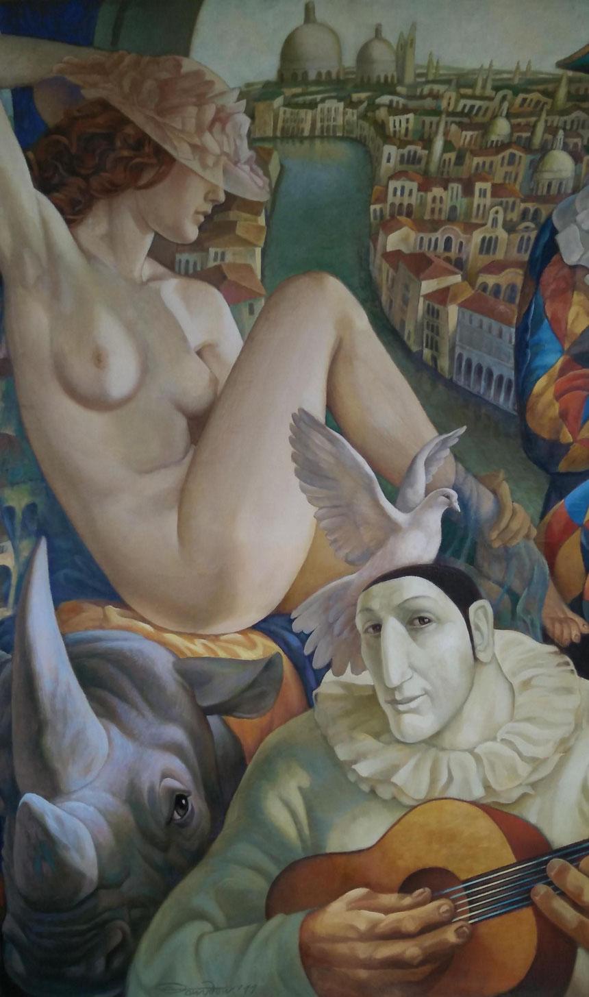 "Dawydow Wjatscheslaw / Davydov Viacheslav ""Karneval"", 140 x 100cm, 2011"