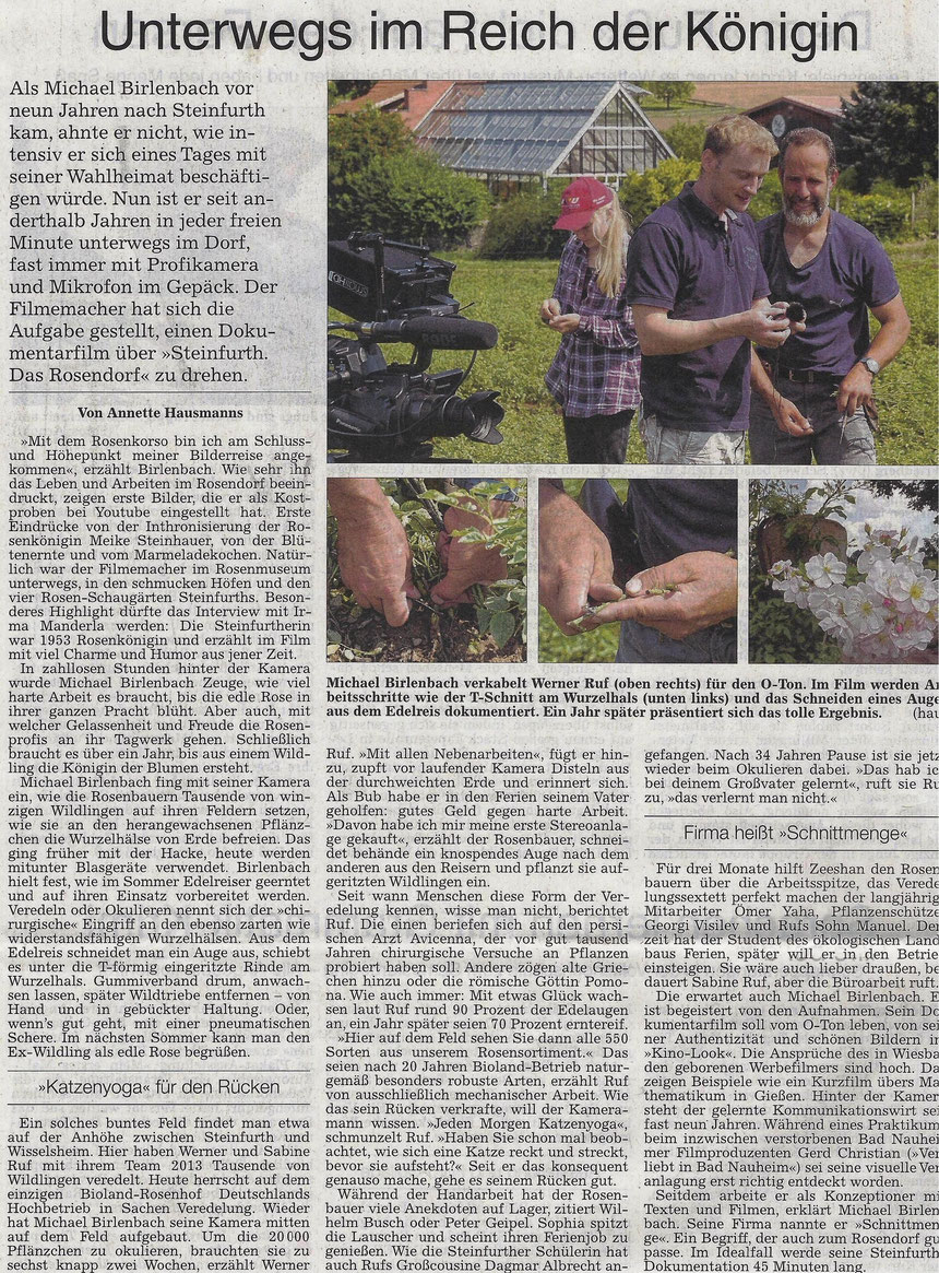 Unterwegs im Reich der Königin, WZ 13.08.2014, Text und Fotos: Annette Hausmanns