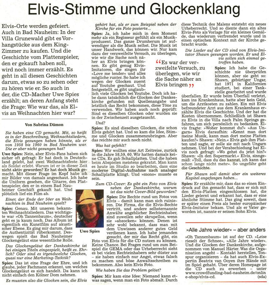 Elvis-Stimme und Glockenklang, WZ 19.12.2016, Text: Sabrina Dämon, Fotos: Nici Merz, Privat und Archiv