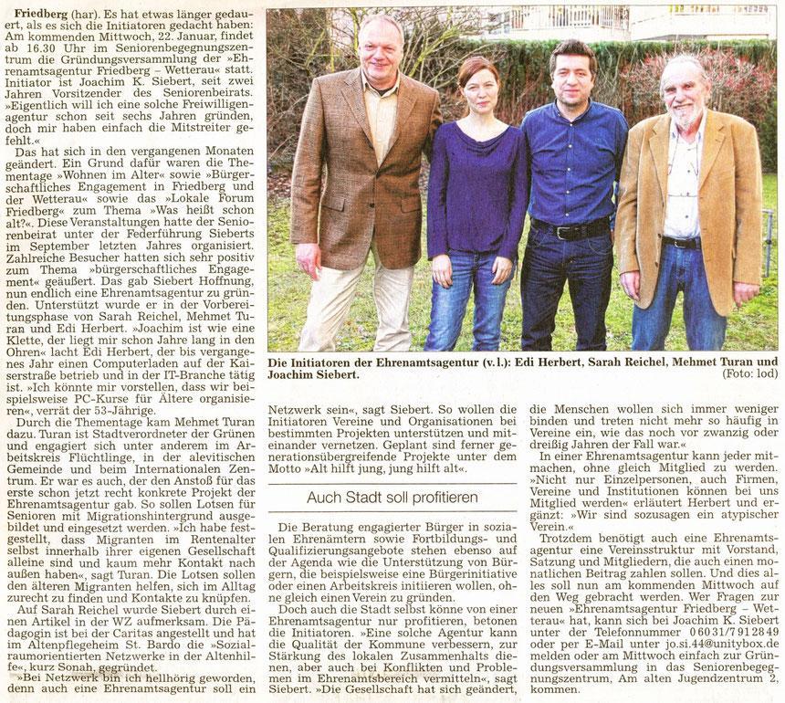 Atypisch zu mehr Engagement, WZ 18.01.2014, har