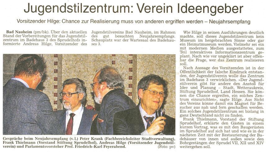 WZ 21.01.2015, Text: pm / Bernd Klühs