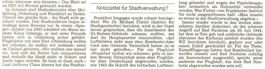 Flugblätter über Bad Nauheim, WZ 26.08.2014, Text: Petra Ihm-Fahle, Fotos: Petra Ihm-Fahle und Institut für Stadtgeschichte Frankfurt