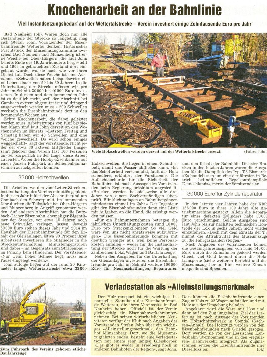 WZ, 29.11.2013, Text: Bernd Klühs, Fotos: Stefan John