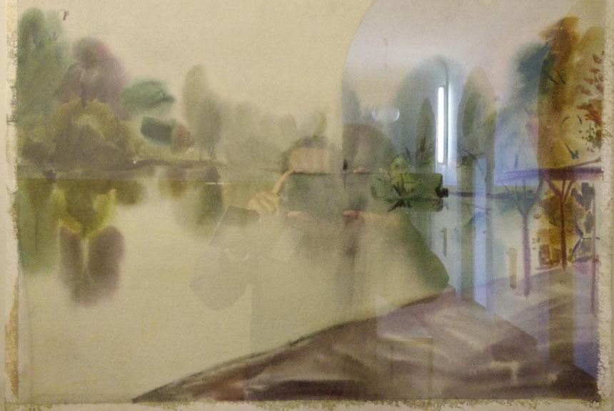 "Davydova Elena ""Am Großen Teich Bad Nauheim"", Aquarell, 50 x 70cm, 2005"