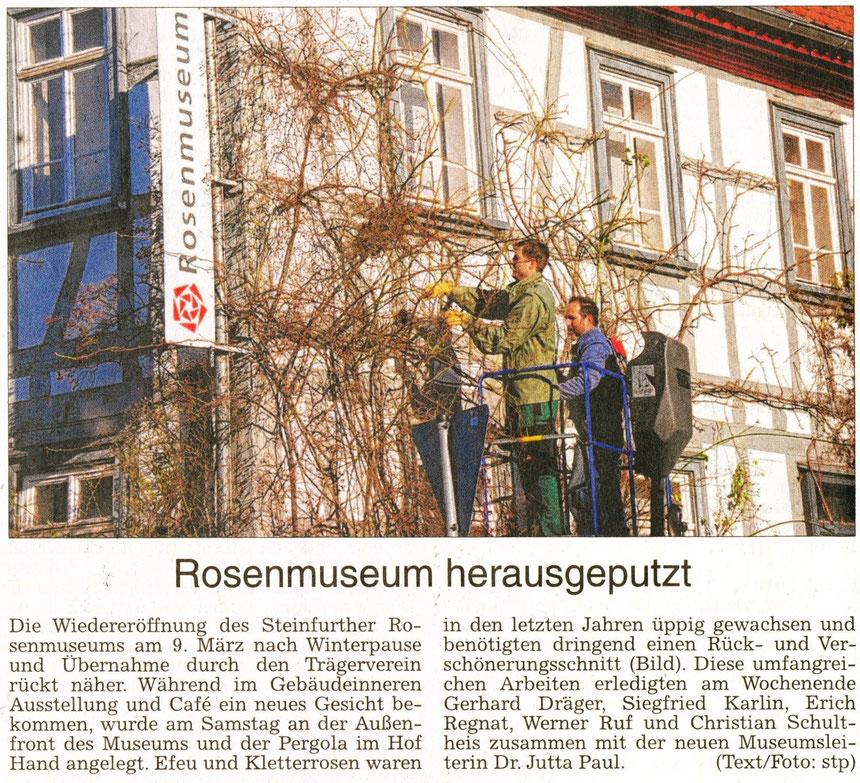 Rosenmuseum herausgeputzt, WZ 25.02.2014