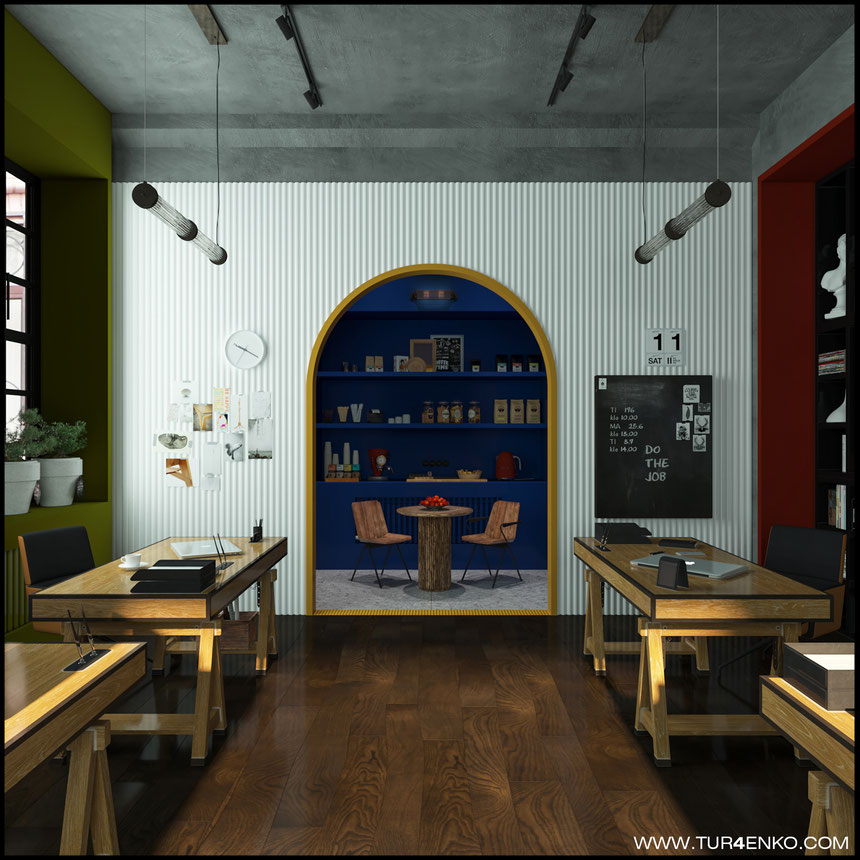 дизайн офиса в стиле лофт Москва 89163172980