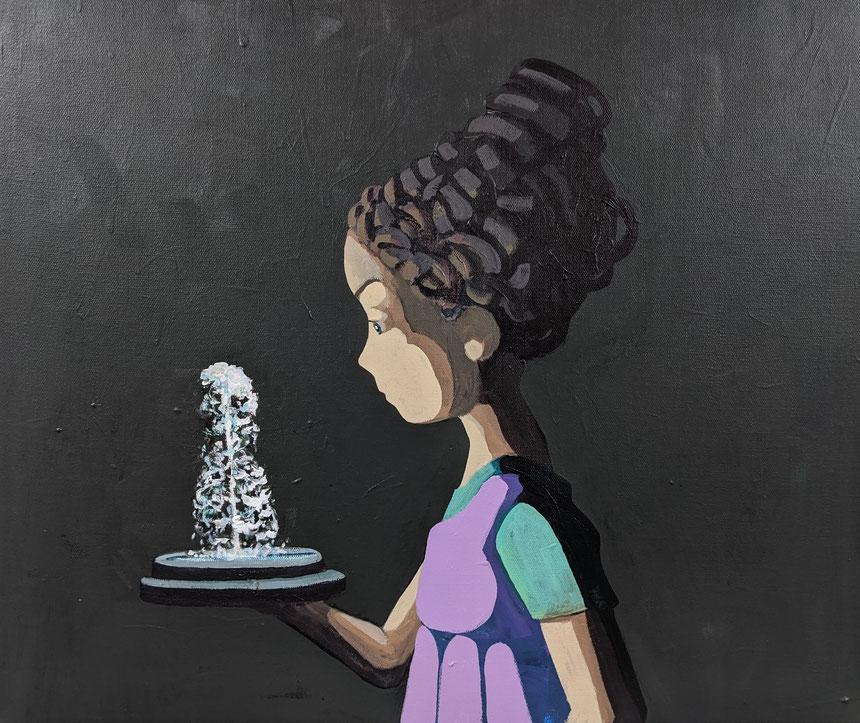 fountain - Acryl auf Leinwand, 50x60cm, 2019
