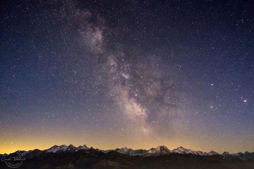 Milchstrasse, Milkyway, Brienzer Rothorn, Sommer, Astrofotografie