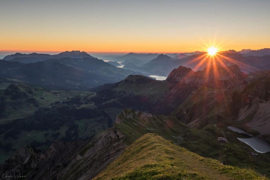 Sonnenaufgang auf dem Brienzer Rothorn