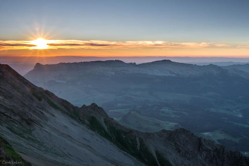 Sonnenuntergang auf dem Brienzer Rothorn