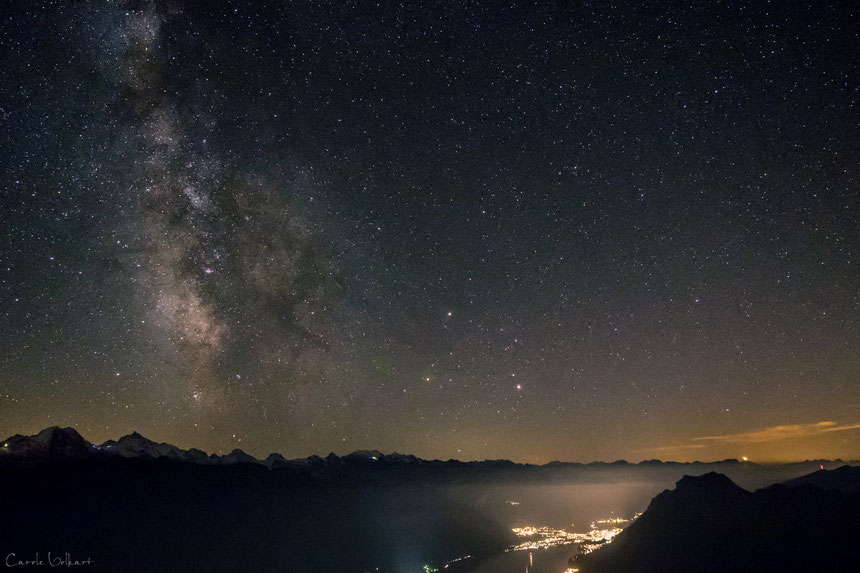Milkyway über dem Brienzersee, Interlaken, Brienzer Rothorn