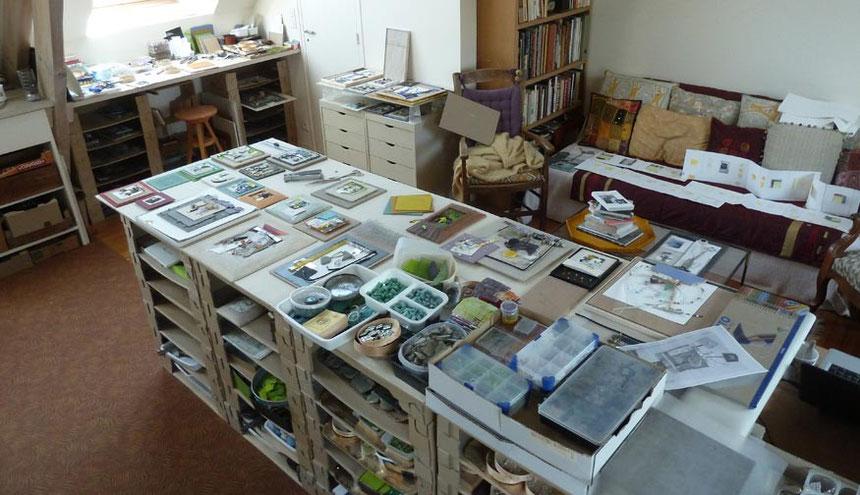 Dans mon atelier du Cotentin...