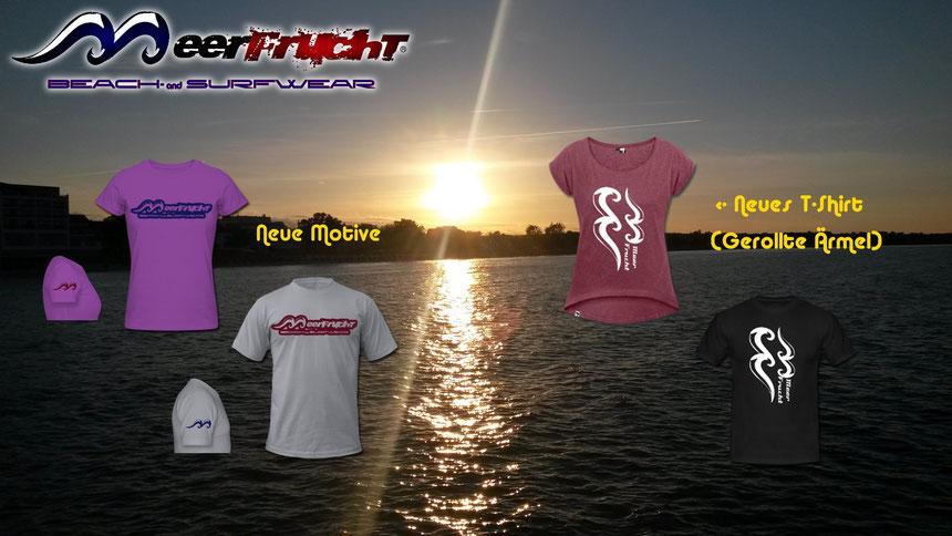 Auch neu: T-Shirt mit gerollten Ärmeln