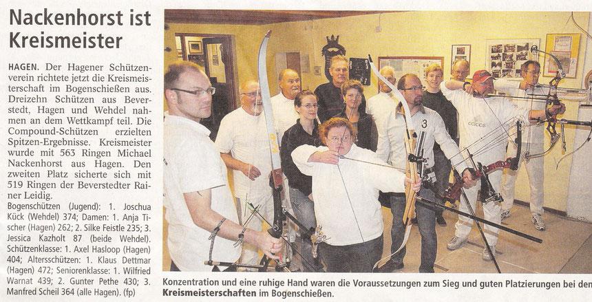 Nordsee-Zeitung vom 2.11.2012