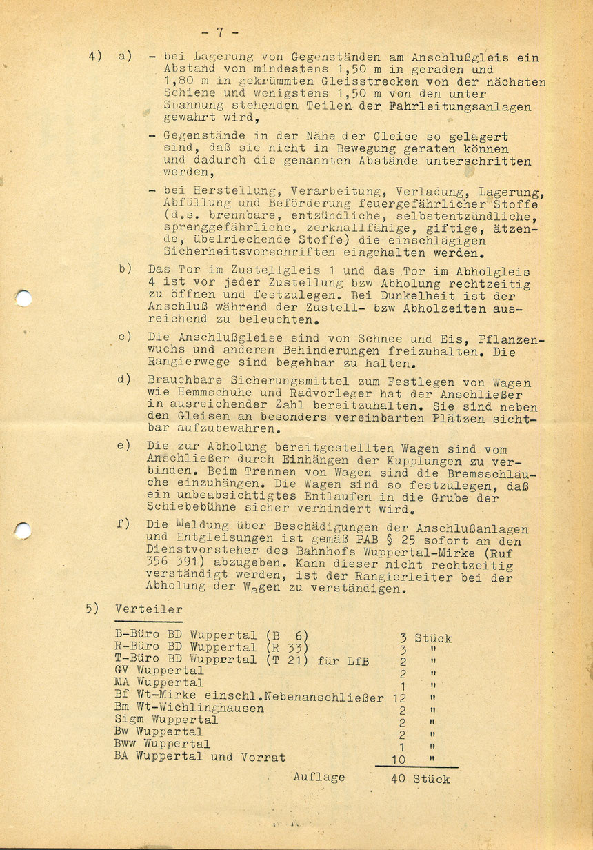 Bedienungsanweisung vom 01. März 1973, Seite 7