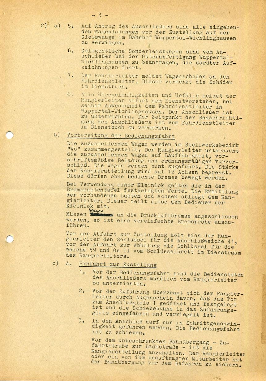Bedienungsanweisung vom 01. März 1973, Seite 3