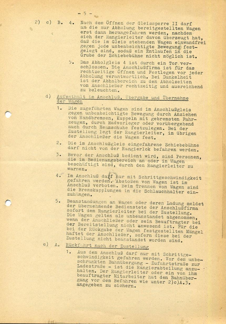 Bedienungsanweisung vom 01. März 1973, Seite 5