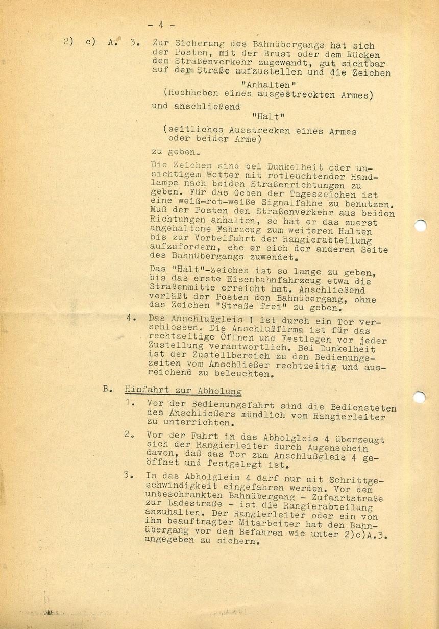 Bedienungsanweisung vom 01. März 1973, Seite 4