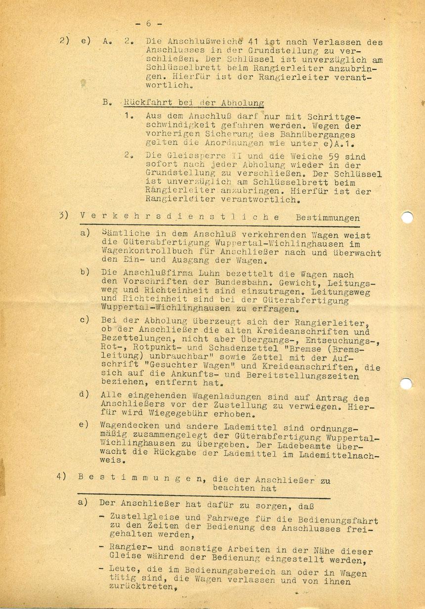 Bedienungsanweisung vom 01. März 1973, Seite 6