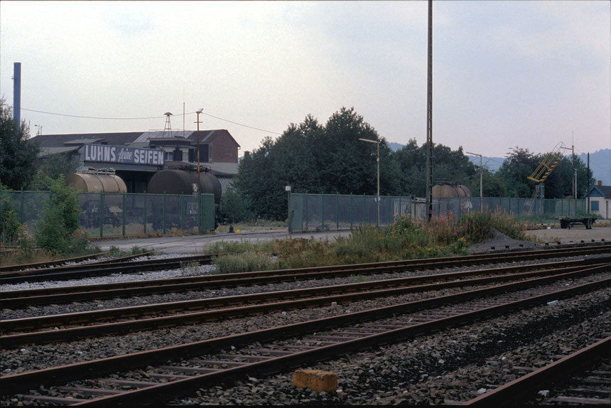 Das Zustellgleis wurde über die Weiche 52 von Gleis 31 des Bahnhofes Wichlinghausen angeschlossen.