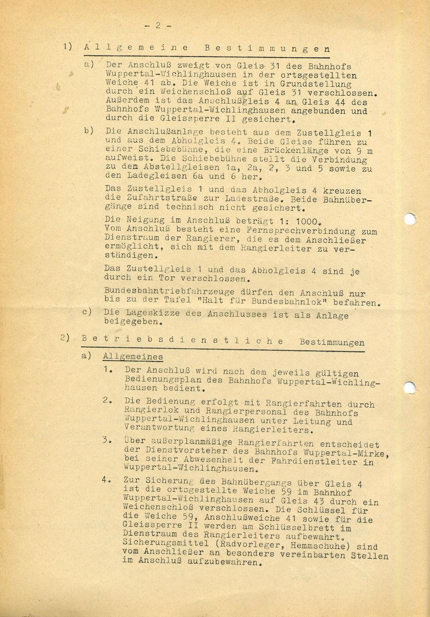 Bedienungsanweisung vom 01. März 1973, Seite 2