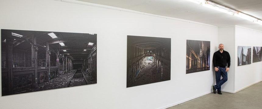 """Michael Sander - """"Industrie Romantik"""" Ausstellung im Kunstverein Duisburg 2014"""