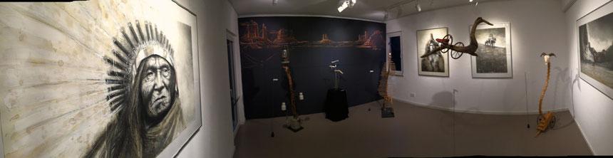 Ausstellung, Auf der Suche nach der verlorenen Zeit, Andreas Noßmann, Rolf Puschnig, Surrament, Zeichnungen, tOG, take OFF GALLERY, Düsseldorf, Galerie, Kunstraum