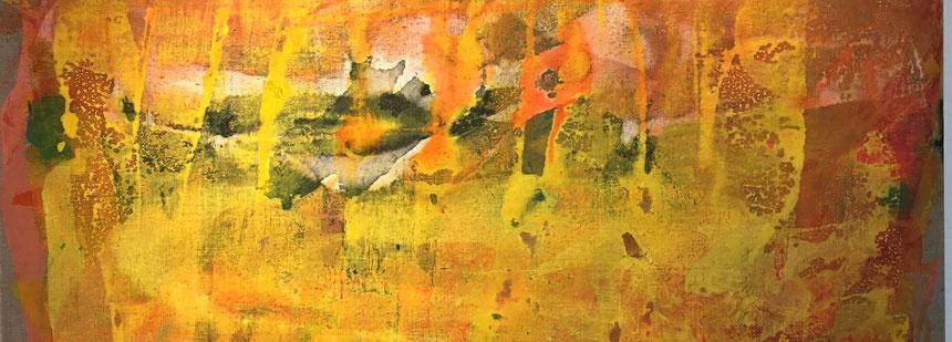 Ausschnitt aus dem Werk, Fields of Sunflowers, Bärbel Ertl-Beddig, Ertl,