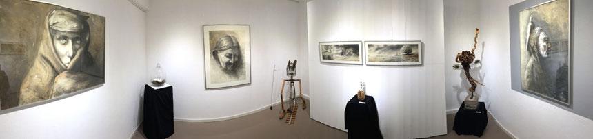 """tOG, take OFF GALLERY, Galerie, Düsseldorf, Duesseldorf, Andreas Noßmann, Rolf Puschnig, Raum 2, """"Auf der Suche nach der verlorenenZeit"""", Zeichnungen, Objekte, Künstler, Surramente, Surramentteur"""
