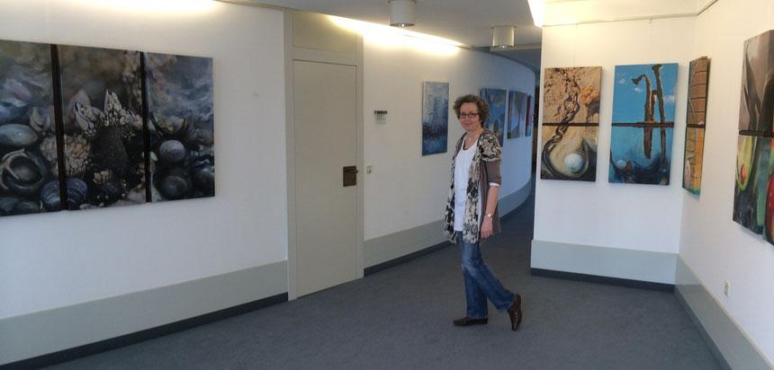 """Annette Palder, Ausstellung, LAndtag, NRW, """"ZEIT & NATUR(T)RAUM"""", Werke, """"GEBOrGEN"""","""