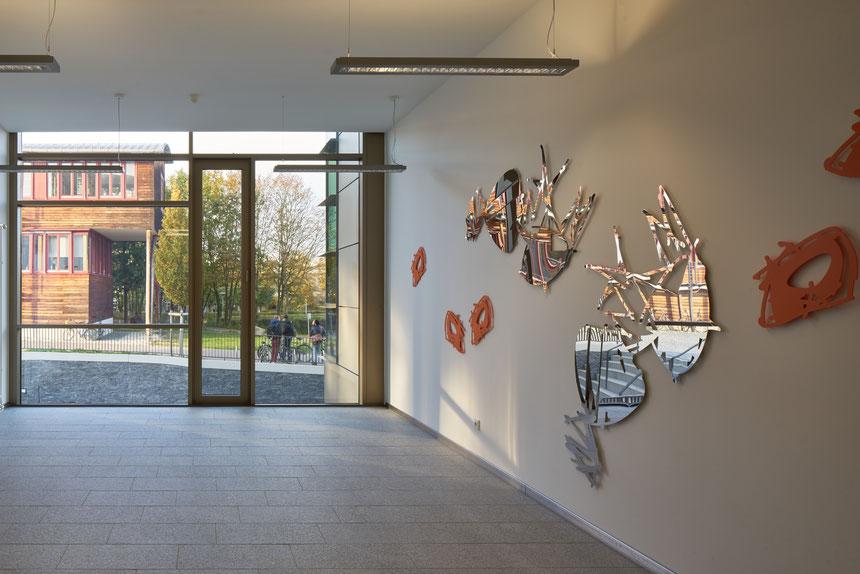 Kunst am Bau, Kunst, TUM, Anthony Werner, Internationales Getränkewissenschaftliches Zentrum, Weihenstephan, Zeichnung