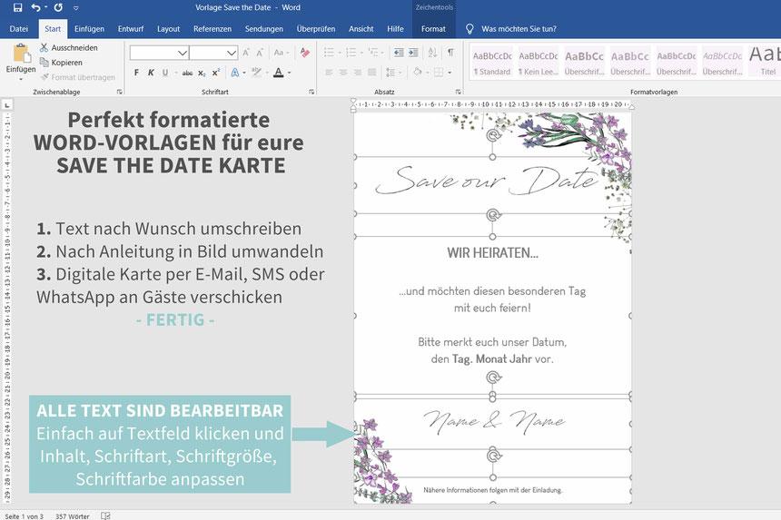 Save the date, digitale, Handy, selber machen, Vorlage, Whatsapp, elektronische, Hochzeit ankündigen, Hochzeitskarte, Druckvorlage, basteln