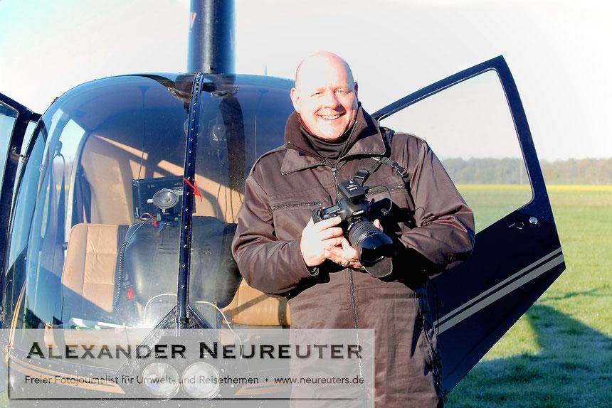 """Nach der Landung mit über 4.000 Fotos """"im Kasten"""". (Foto: Sybille Tetsch)"""