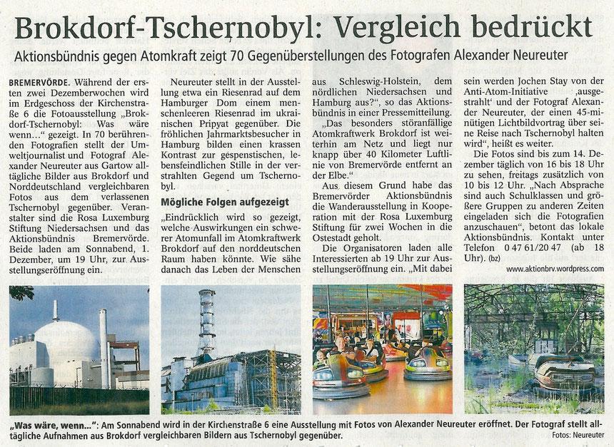 aus der Bremervörder Zeitung vom 28. November 2012