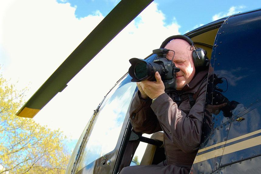 Sechs Stunden im Helikopter über den Rundlingsdörfern des Wendlands unterwegs (April 2014) – Foto: S. Tetsch