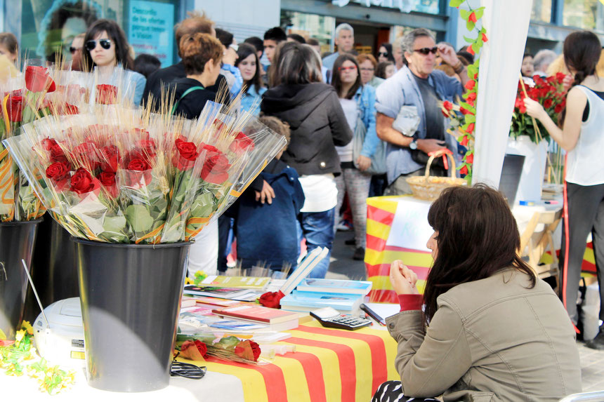 Rosens och bokens dag i Barcelona, Foto: Sara Önnebo