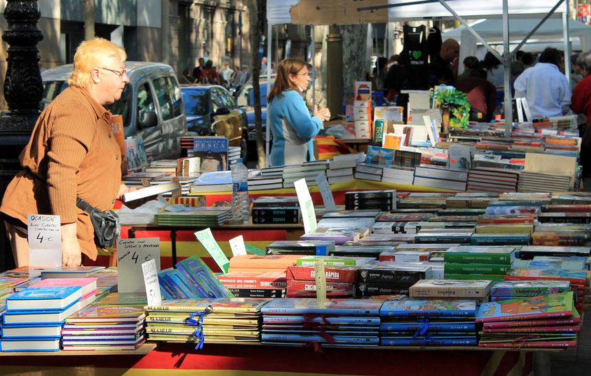 Bokmarknad i mångkulturella Barcelona