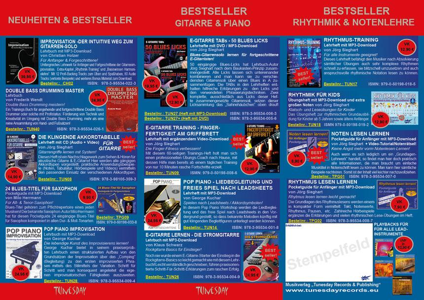 Tunesday Bestseller Seite 2 - bitte Anklicken zum Vergrößern! (PDF-Download siehe oben!)