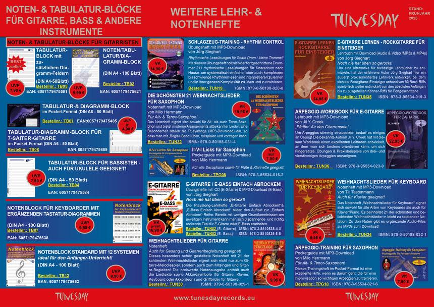 Tunesday Bestseller Seite 1 - bitte Anklicken zum Vergrößern! (PDF-Download siehe oben!)