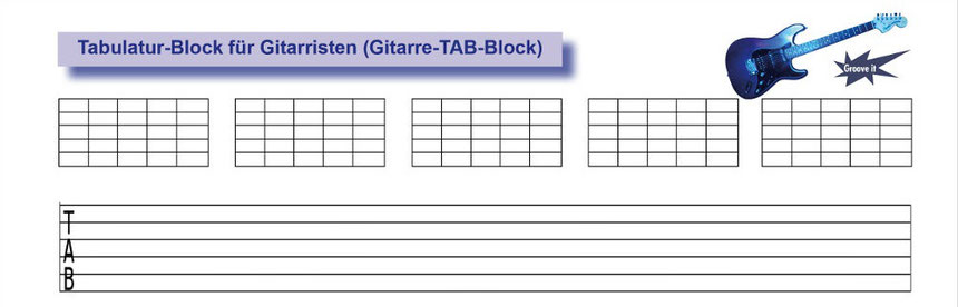 Tabulatur-Block für Gitarristen - Tunesday Records