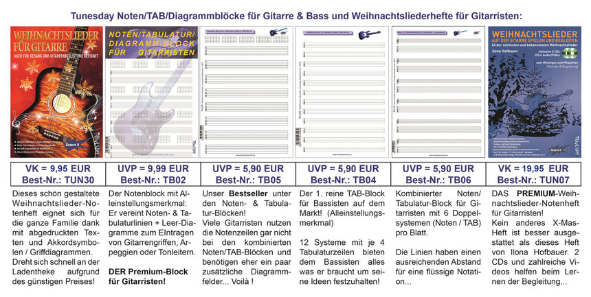 Musik-Lehrbücher, Noten, Playalongs, CDs, DVDs - Tunesday Records
