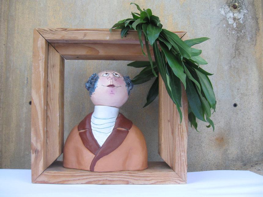 Goethe unter Lorbeerblättern