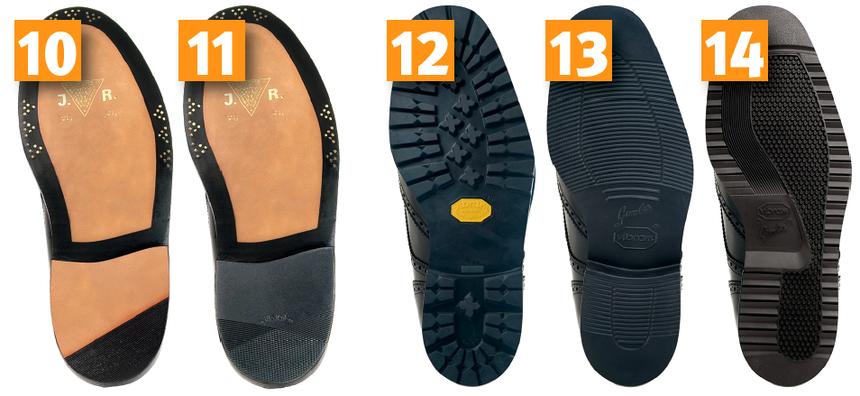 Genähte Ledersohle (Zwischensohle) mit zusätzlicher & gestifteter Ledersohle oder Formsohle