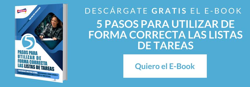5 pasos para utilizar de forma correcta las listas de tareas - AorganiZarte