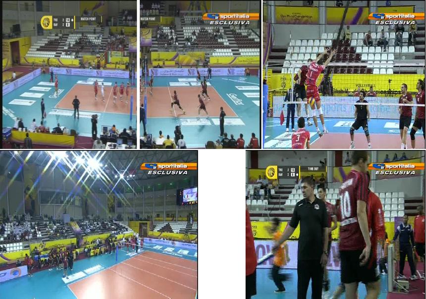 spalti vuoti ad una gara di campionato mondiale per società di volley