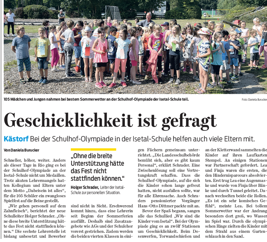 Gifhorner Rundschau 20.08.2016