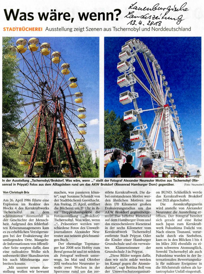 Lauenburgische Landeszeitung, 13. April 2013