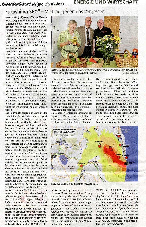 Geesthachter Anzeiger, 1. Oktober 2013
