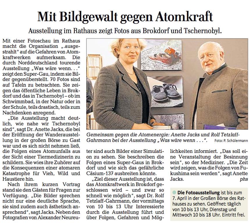 Lübecker Nachrichten, 28. März 2013